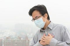 Pojęcie zanieczyszczenie powietrza Obraz Royalty Free