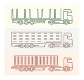 Pojazdów piktogramy: Europejczyk ciężarówki 4 Zdjęcia Royalty Free