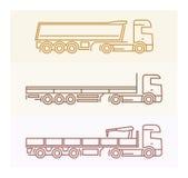 Pojazdów piktogramy: Europejczyk ciężarówki 2 Obrazy Stock