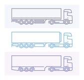 Pojazdów piktogramy: Europejczyk ciężarówki 3 Obraz Royalty Free