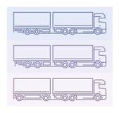 Pojazdów piktogramy: Europejczyk ciężarówki - tandemy 3 Obraz Royalty Free