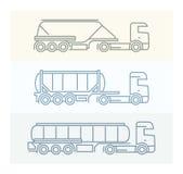 Pojazdów piktogramy: Europejskie ciężarówki Zdjęcia Royalty Free