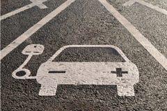 Pojazd elektryczności ładuje znak Zdjęcia Stock