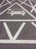 Pojazd elektryczności ładuje znak Zdjęcie Stock