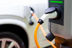 Pojazd elektryfikacja jeżdżenie Obrazy Stock