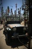 Pojazd przy Elmer butelki drzewa rancho Zdjęcie Royalty Free