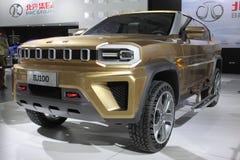 Pojazd w Międzynarodowym zaawansowany technicznie expo zdjęcia royalty free