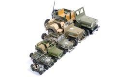 Pojazd wojskowy zabawki Zdjęcia Stock