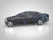 Pojazd z abstrakcjonistycznym carbody ilustracji