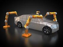 Pojazdu fabrykować ilustracja wektor