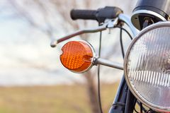 Pojazdu headlamp w górę, odprawa, boczna lampa zdjęcie stock