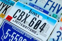 Pojazdu rejestracyjny talerz zlani stany America zdjęcia stock