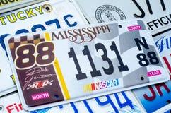Pojazdu rejestracyjny talerz zlani stany America fotografia royalty free