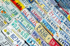 Pojazdu rejestracyjny talerz zlani stany America obraz royalty free
