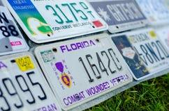 Pojazdu rejestracyjny talerz zlani stany America zdjęcie stock