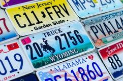 Pojazdu rejestracyjny talerz zlani stany America obrazy stock