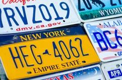 Pojazdu rejestracyjny talerz zlani stany America zdjęcie royalty free