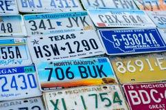 Pojazdu rejestracyjny talerz zlani stany America fotografia stock
