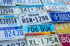 Pojazdu rejestracyjny talerz zlani stany America zdjęcia royalty free