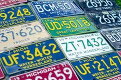 Pojazdu rejestracyjny talerz zlani stany America obraz stock