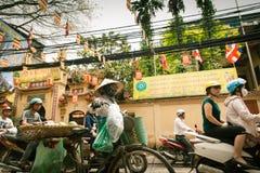 Pojazdu ruch drogowy w Hanoi Zdjęcie Royalty Free