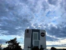 Pojazdu zgromadzenie budynek przy NASA centrum lotów kosmicznych imienia johna f. kennedyego Zdjęcie Stock