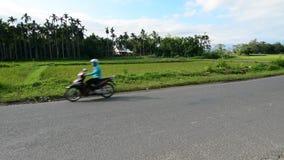 Pojazdy biegają na wsi drodze w Quang Nam, Wietnam zbiory wideo