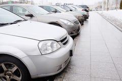 Pojazdy parkujący Obraz Stock
