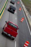 Autostrady ruch drogowy budowa Zdjęcia Royalty Free