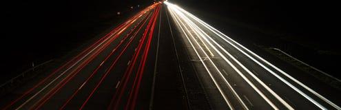 Pojazdy przy nocą Obraz Stock