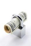 pojęcia asekuracyjny pieniądze oszczędzanie Obrazy Stock