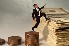 pojęcia ekonomiczny rynku zapasu sukces Obrazy Stock