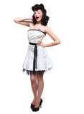 pojęcia redakcyjnej mody wysoka kobieta Zdjęcie Royalty Free