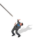 Pojęcie Biznesowy mężczyzna Śrubujący Obrazy Stock