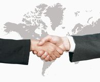 Biznesowy światowy uścisk dłoni Zdjęcia Royalty Free