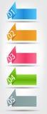 Pojęcie kolorowy origami dla różnego biznesu Fotografia Royalty Free