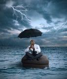 Biznesowa burza Zdjęcia Stock