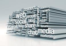 Pojęcie ogólnospołeczni środki Fotografia Stock