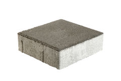 Pojedyncza bruk cegła, odizolowywająca Betonowy blok dla brukować Obrazy Stock