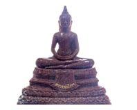 Pojedyncza medytaci Buddha statua odizolowywająca na białym tle Obrazy Stock