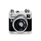 Pojedyncza retro kamery ikona odizolowywająca Fotografia Stock