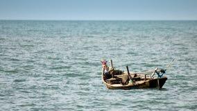 Pojedyncza rząd łódź Fotografia Royalty Free
