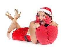 pojedyncza Santa kierowa kobieta Obrazy Stock