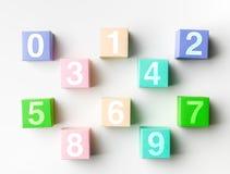 Pojedyncze cyfr liczby Obraz Stock