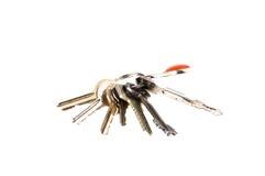 pojedyncze klucze białe Zdjęcia Royalty Free