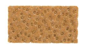 Pojedynczego sourdough crispbread cały zbożowy krakers Zdjęcie Stock