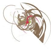 pojedynczy abstrakcjonistyczny wzór Obrazy Royalty Free