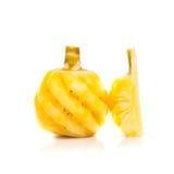 pojedynczy ananasowy white obraz royalty free