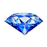 pojedynczy błękitny diament Obrazy Stock