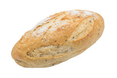 pojedynczy białe tło chleba Obrazy Royalty Free